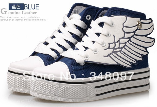 ! new high canvas shoes sponge angel wings female han edition tide - zhi xian's store