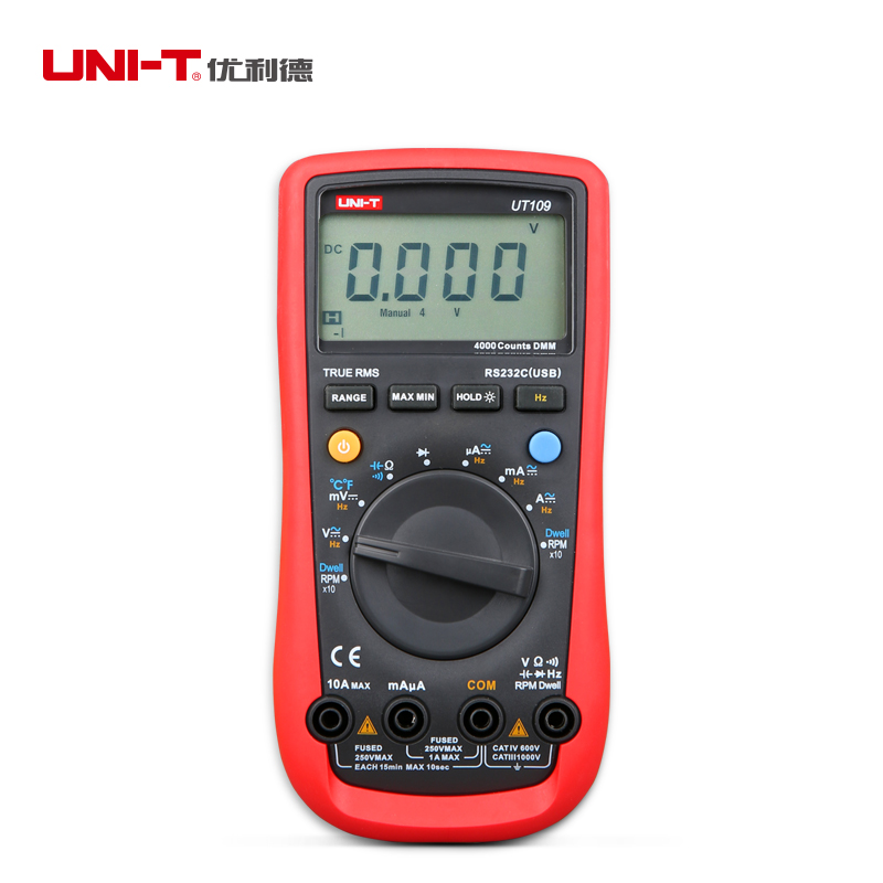 UNI-T UT109 Handheld Automotive Multimeters Multi-Purpose Testers Auto Range LCD C/F Thermometer AC DC Digital Multimeters<br><br>Aliexpress