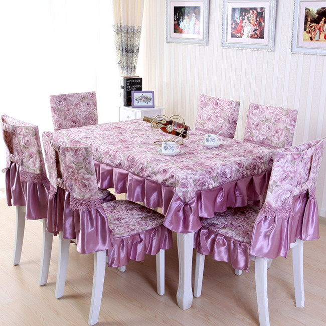 Pastoral custom tablecloths tablecloth dining table cloth chair cover cushion chair cushions round coffee table tablecloths suit(China (Mainland))
