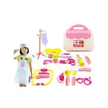 15 قطعة/المجموعة طبيب لعب مجموعة لعبة مع ممرضة الملابس الطبية ، البلاستيك طبيب لعبة مجموعة للأطفال ألعاب تعليمية(China (Mainland))