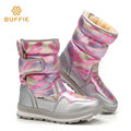 brand boots winter warm shoes boots women waterproof 2016 fashion hot shoes pink silver colour family