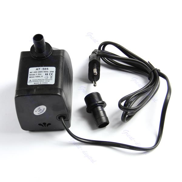 Submersible Fountain Air Fish Tank Aquarium Water Pump EU Plug 220V 20W 1000L/H<br><br>Aliexpress