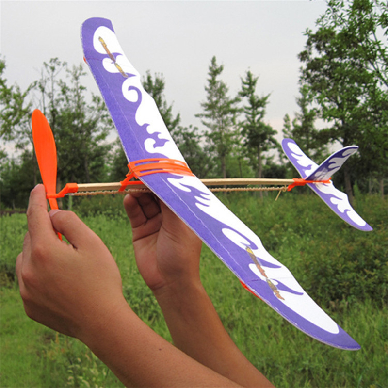 1 Set Creative Rubber Band Airplane Paper Jet Glider Kids Children Educational Learning Machine Handmade DIY Science Model Toys(China (Mainland))