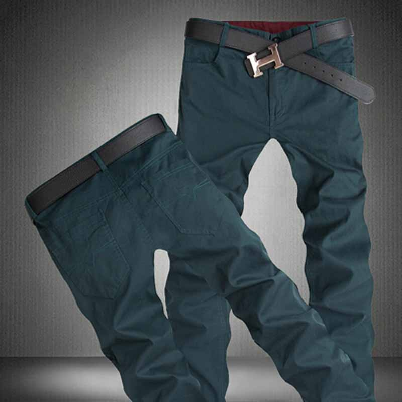 Hot Sale 2016 Brand New Fashion Mens Casual Pants New Design Business Trousers High Quality Cotton Pants Size 28~44()