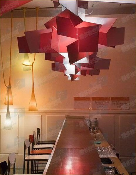90cm new contemporary red large modern big bang bigbang pendant lamp lighting light. Black Bedroom Furniture Sets. Home Design Ideas