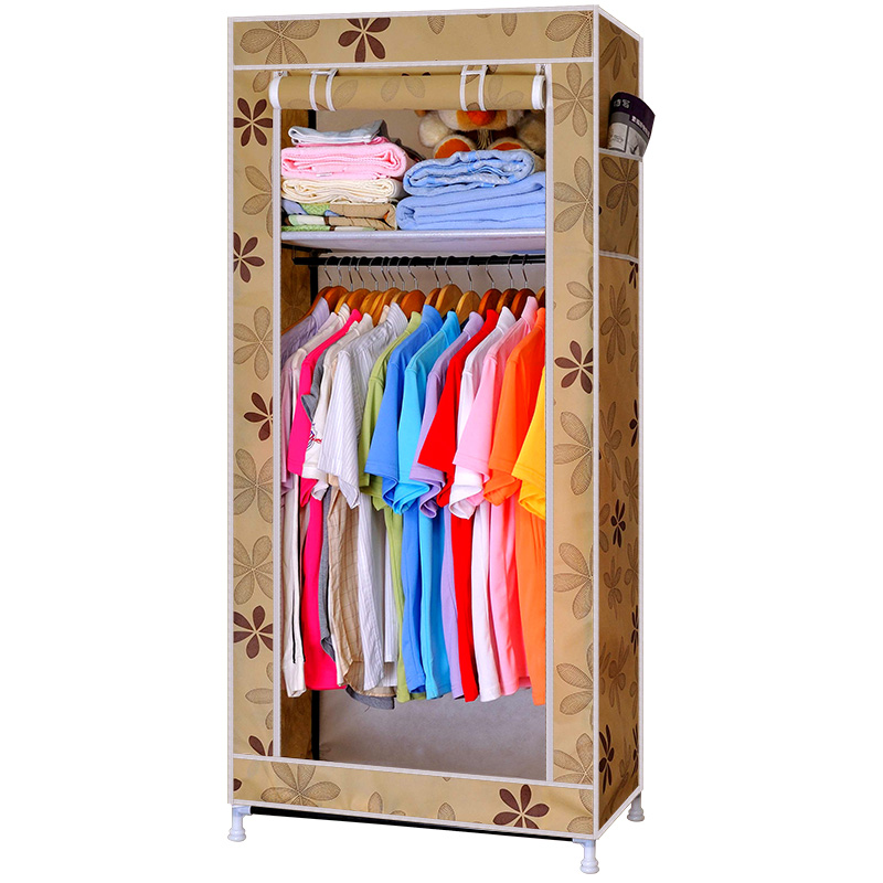 House Scenery single foldfabric wardrobe storage portable closet armoire non-woven specials bedroom bed room furniture cabinet(China (Mainland))