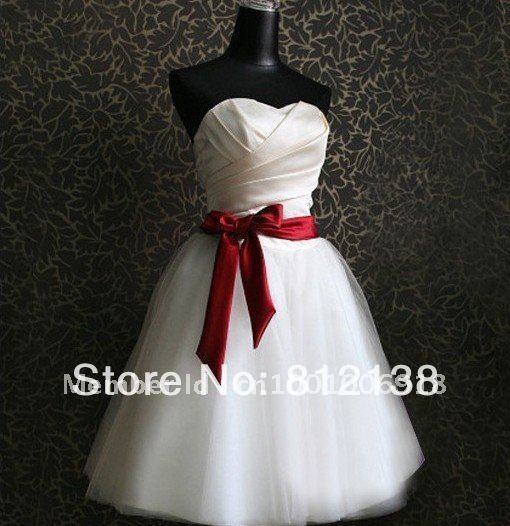 New Korean Wedding Dress Fashion Dress for Party White Short Gowns Wed Dress Bra Wedding Toast Free Shipping, HS-C502