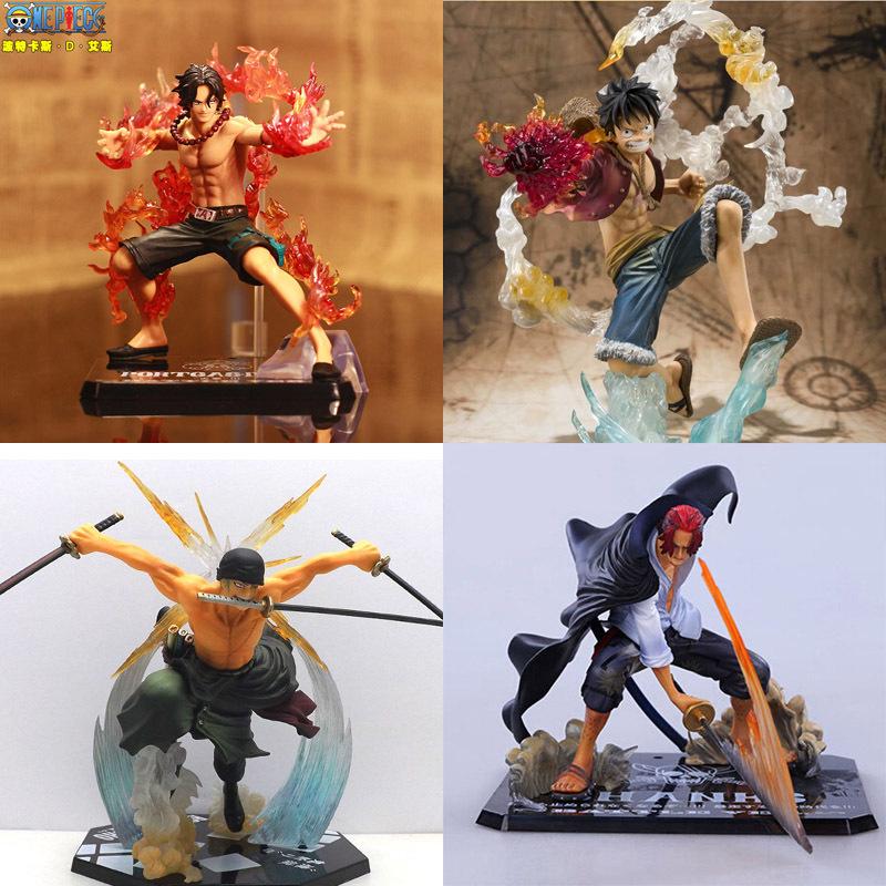 Japanese One Piece Anime Figuarts Zero Monkey D Luffy Action Figure PVC Onepiece Roronoa Zoro Fighting Figure Ace New World Toy(China (Mainland))