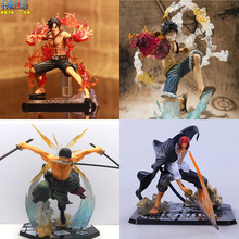Japanese One Piece Anime Figuarts Zero Monkey D Luffy Action Figure PVC Onepiece Roronoa Zoro Fighting Figure Ace New World Toy(China (Mainland))