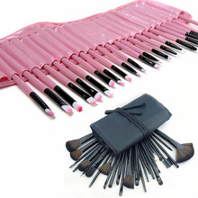 Gift Bag Of Makeup 32pcs Makeup Brush Sets Professional Cosmetics Brushes Eyebrow Powder Lipsticks Shadows Make Up Tool Kit
