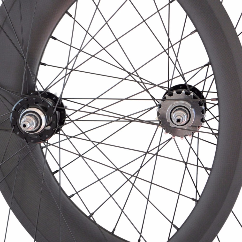 60mm Front 88mm Rear Clincher Carbon Track Bike Wheelset Fixed Gear Bike Wheels 3