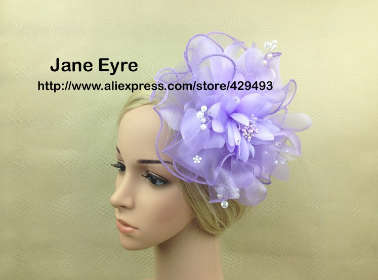 New arrival Big fascinator hat with flower and diamond for kentucky derby wedding,wedding hats and fascinators(China (Mainland))