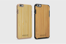 Nillkin 2016 Top Quality Mobile Phone Back Bag Cover For iPhone 6 compatible 6s Bamboo Shell Case PC Protective Capa