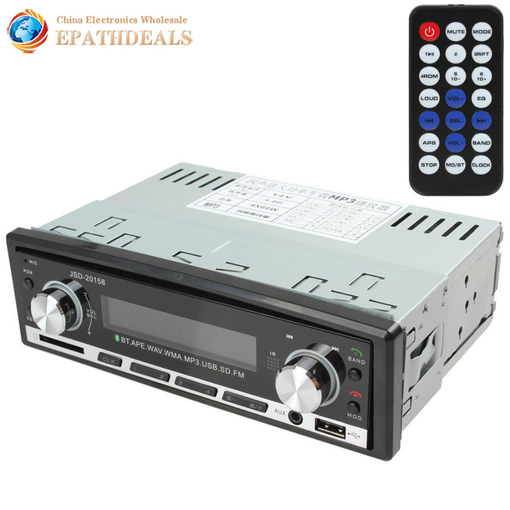 Digital Hands free Car Stereo Bluetooth Audio Music MP3 Player 1 DIN In Dash FM Radio Aux Input Receiver SD USB MP3 Player(China (Mainland))