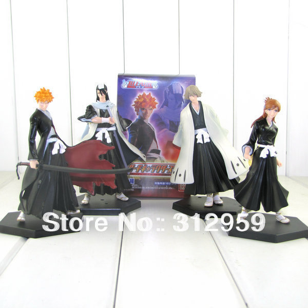 4pcs 2rd Anime Cosplay Bleach Character Figure Toys with Base pvc action collection toys tall 5.5""