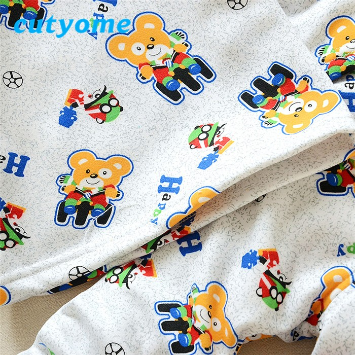 2016 Winter Boutique Thermal Pajamas Baby Boys Girls Nightgown Litter Cars Pattern Underwear Sets Childrens' Spring Warm Clothes