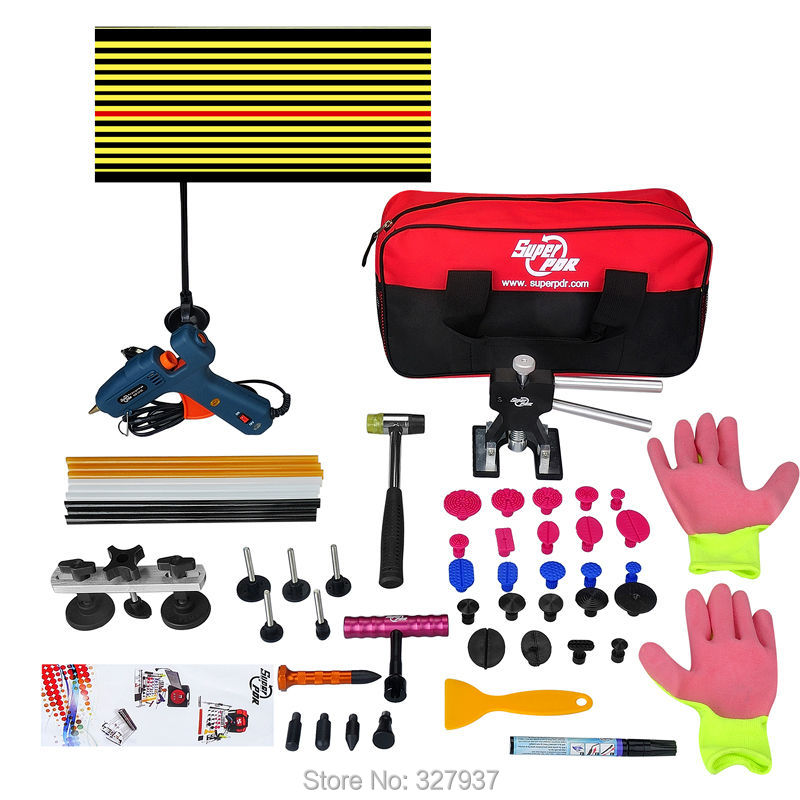 Newly making 48pcs/set auto body dent repair tool pdr tools with tool bag maleta herramientas(China (Mainland))