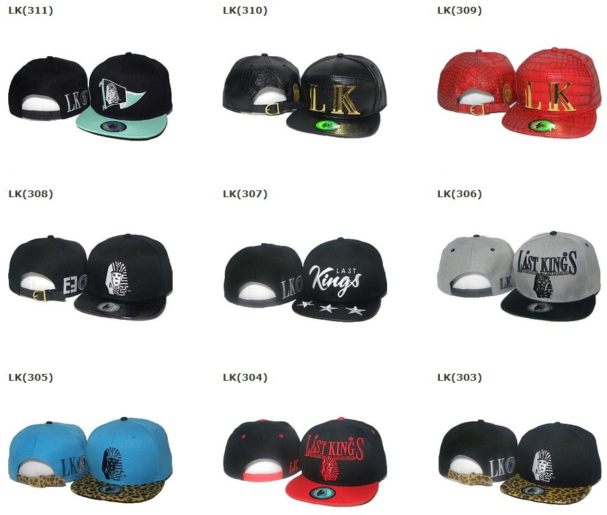 Last Kings Snapback caps black red grey blue cheap cap mens women adjustable strapback hats pick your hats !(China (Mainland))