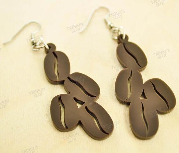 Black Coffee Bean Drop Earrings  <br><br>Aliexpress