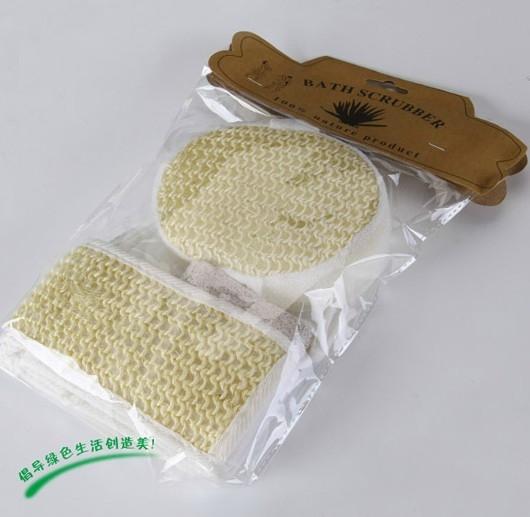 100% nature sisal bath scrubber and foot pumice stone set(China (Mainland))