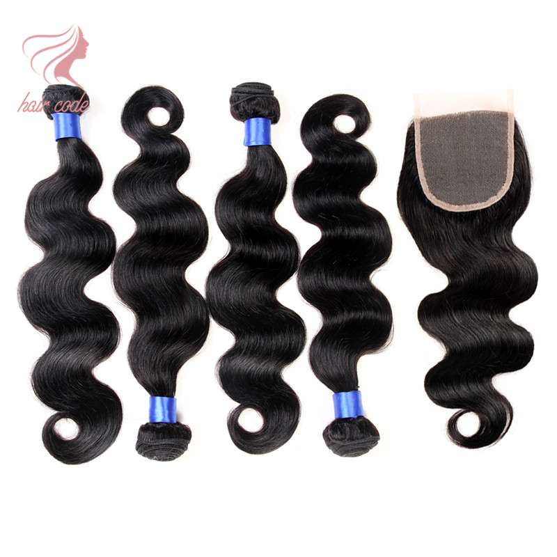Grade 6a Virgin Peruvian Hair Bundles With Closure Grace Hair Company Products 4 Bundles Peruvian Body Wave With Closure<br><br>Aliexpress