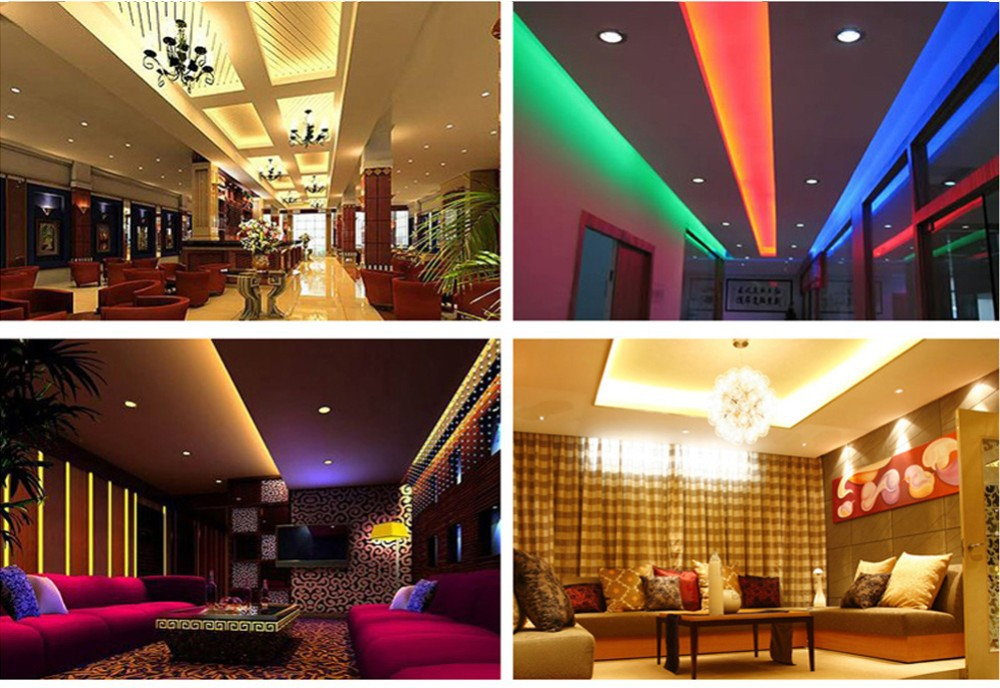 1M 60leds RGB led strip 3528 12V DC flexible light led ribbon tape dc12V neon warm/white/red/blue/green home decoration