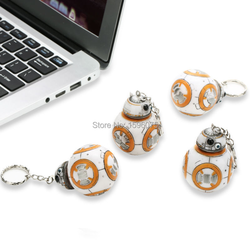 5PCS 2 2inch Star Wars The Force Awakens BB8 BB 8 R2D2 Droid Robot Action Figure