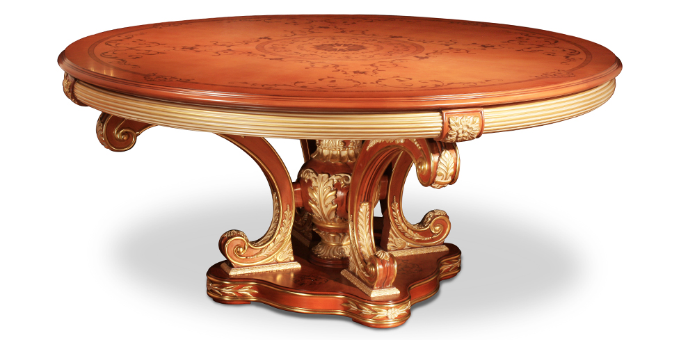 splendid antique French style wood carving Round dining table(China (Mainland))