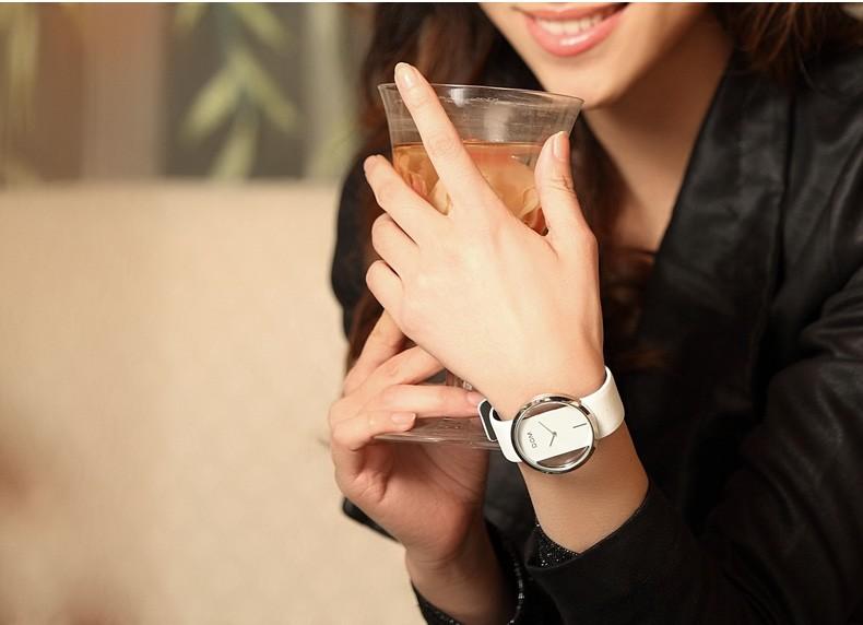 200 м водонепроницаемый 2016 мода щенков-дом выдолбите часы женщины кожаный ремешок кварцевые часы relogio feminino марка женщины часы часы
