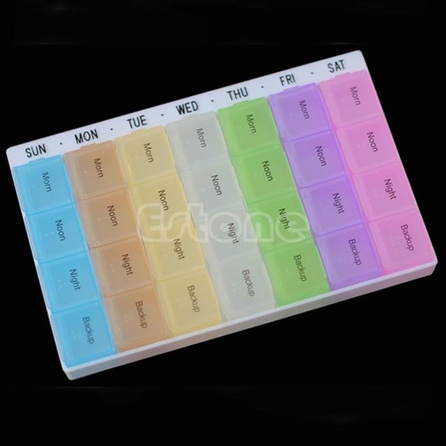 Горячая распродажа 7 дн. 28 отделения таблетки организатор планшет контейнер для ...