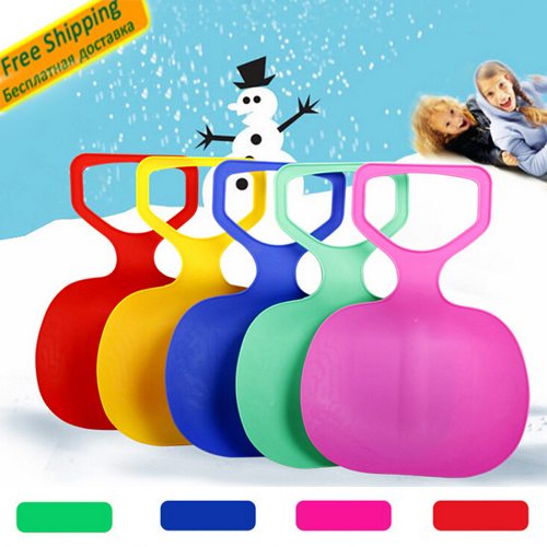 Adult Kids Thicken Plastic Skiing Boards luge adulte Ski Pad Children Snow grass sand Sledge Sled for Winter Sports SCI equiment(China (Mainland))