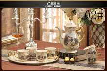 High grade ceramic coffee set tea set restoring ancient ways style coffee pot coffee cup and
