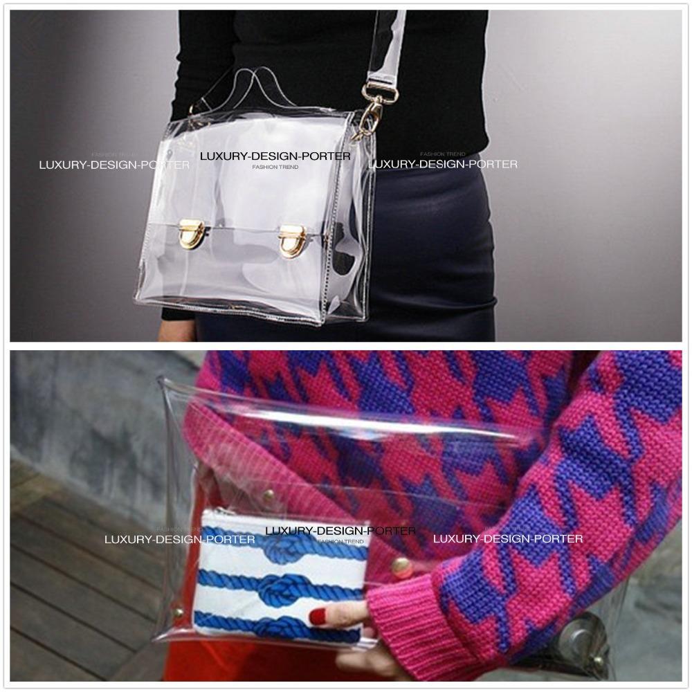 Designer Clear Clutch Transparent Handbag women messenger bag Purse Shoulder bag Silver Pouch Bolsa(China (Mainland))
