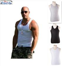 Top Quality Cotton Tank Tops For Men Furious 7 Gym Top Male Fashion Slim Clothing Black