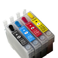 4pcs/Set T0731N-T0734N Empty Refillable Ink Cartridge For Epson Stylus TX200 TX410 TX400 TX210 Office TX300F Auto Reset Chip