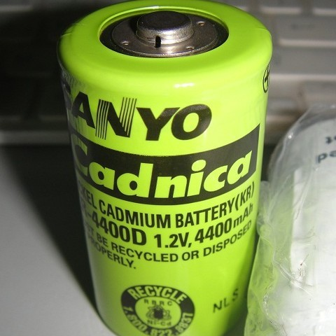 100 Original Used battery for sanyo ni cd KR 4400D 4400mah 1 2V rechargeable Nicd battery