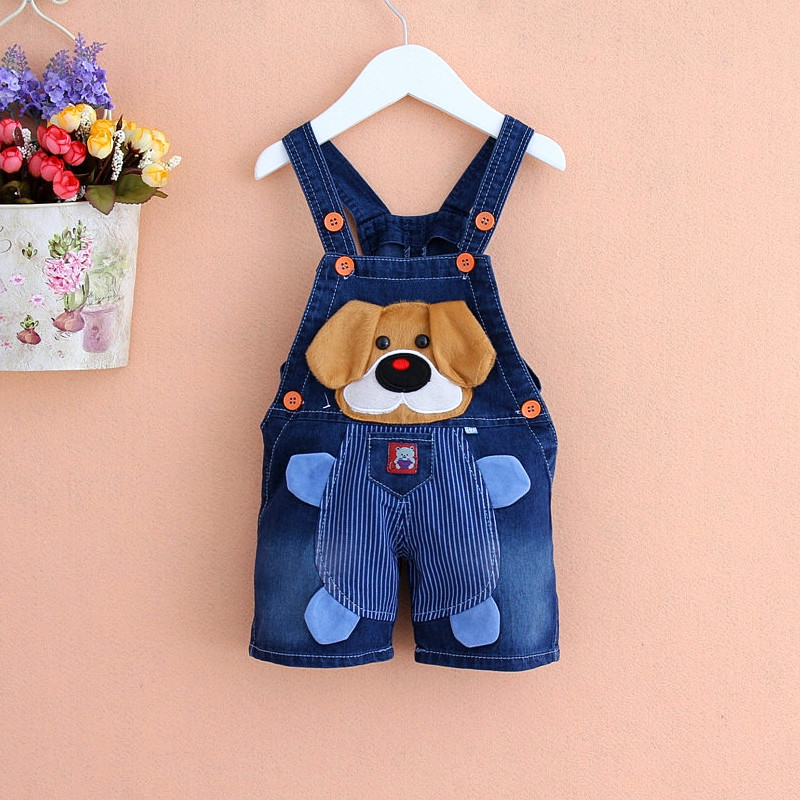 1-3 years old children overalls 2016 summer style boys jeans,animal patterns baby girls clothing,burst models children's clothes(China (Mainland))