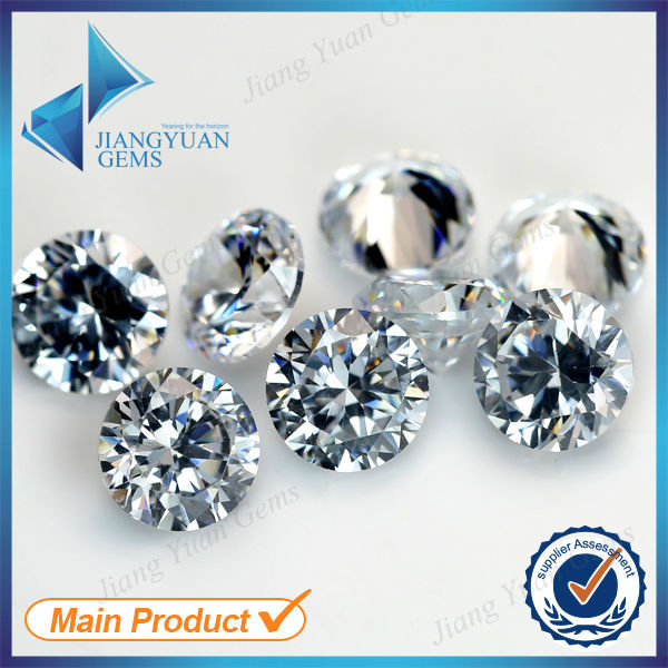 200pcs 0.8~2.25mm 5A Sample White Round Machine Cut Lab Created Loose Cubic Zirconia CZ Stone Synthetic Gems For Jewelry DIY(China (Mainland))