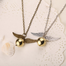 2016 two tone Angel wings snitch gold necklace cosplay party jewelry Wholesale
