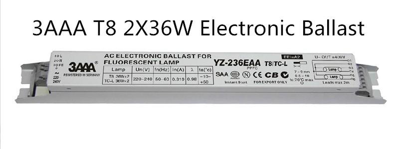 Electronic Ballast 2 x 36W 3AAA YZ-236EAA-P//220-240 Vorschaltger/ät