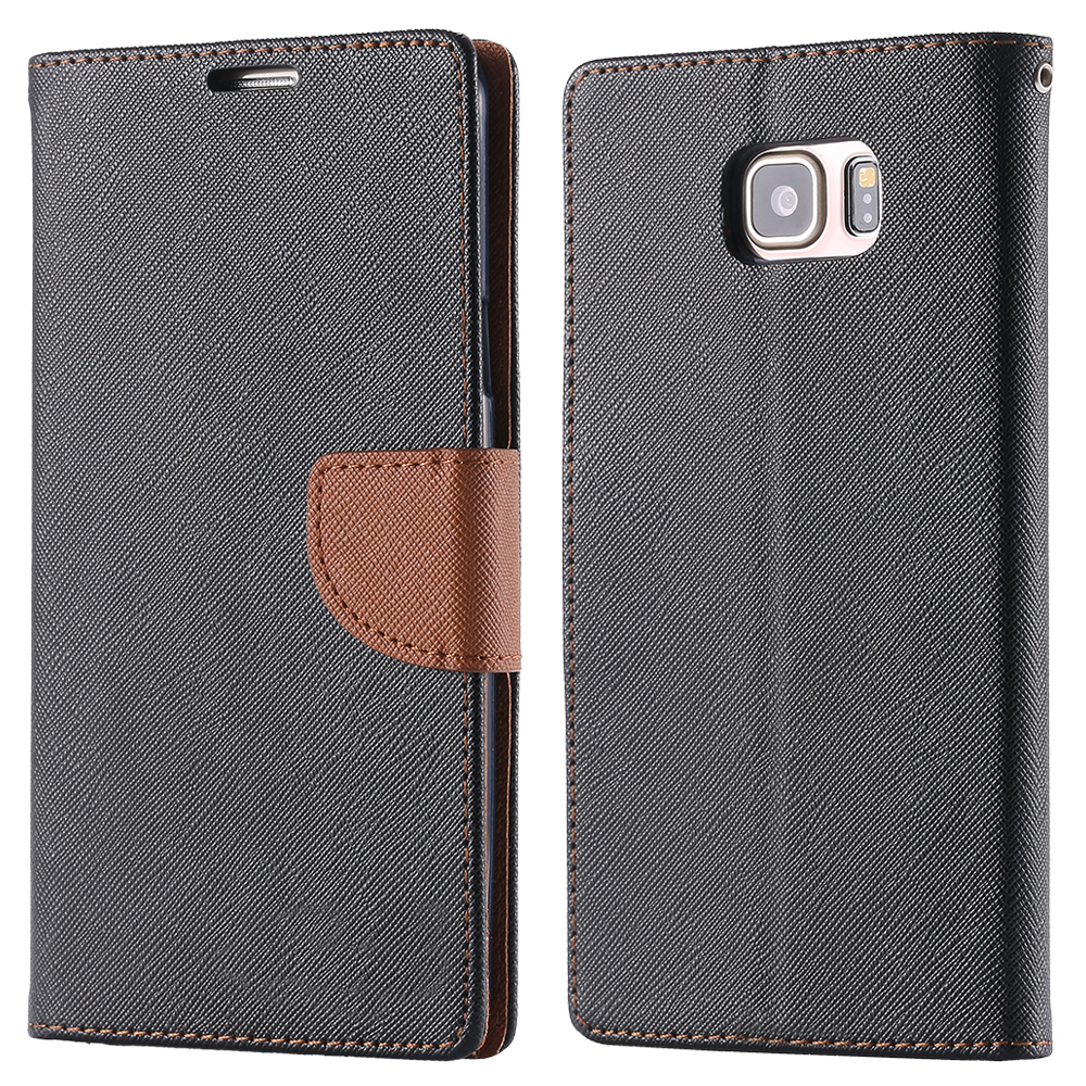 Здесь можно купить  100pcs/lot DHL With Brand Logo For Note 5 Luxury Wallet Stand Leather Case for Samsung Galaxy Note 5 Flip Phone Cover Wholesale  Телефоны и Телекоммуникации