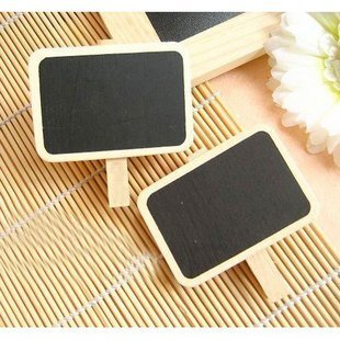 8pcs/lot New blackboard wooden clip,wooden message clip, Memo Clip board Lovely stationery (SS-1248)