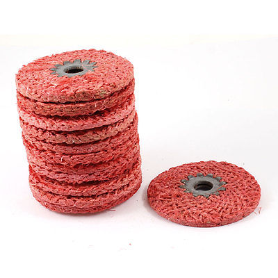 Red 8mm Thickness 100mm Outside Dia Abrasive Flap Disc Wheel 12 Pcs<br><br>Aliexpress