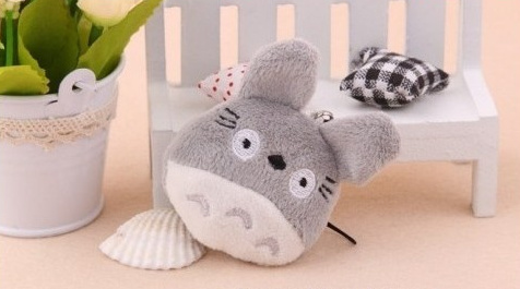 40PCS Mini 4*3CM MY Neighbor TOTORO Plush Stuffed TOY String Pendant TOY Key Chain DOLL ; Wedding Flower Gift Bouquet DOLL TOY(China (Mainland))