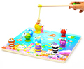 Fun Fishing Family Games Kids Early education wooden magnetic fishing toys Play House Toys Pretend Play