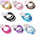 40pcs lot Fashion Girls Candy Color Hair Rubber Band Elastic Hair Ropes Ponytail Holder Kid Hair