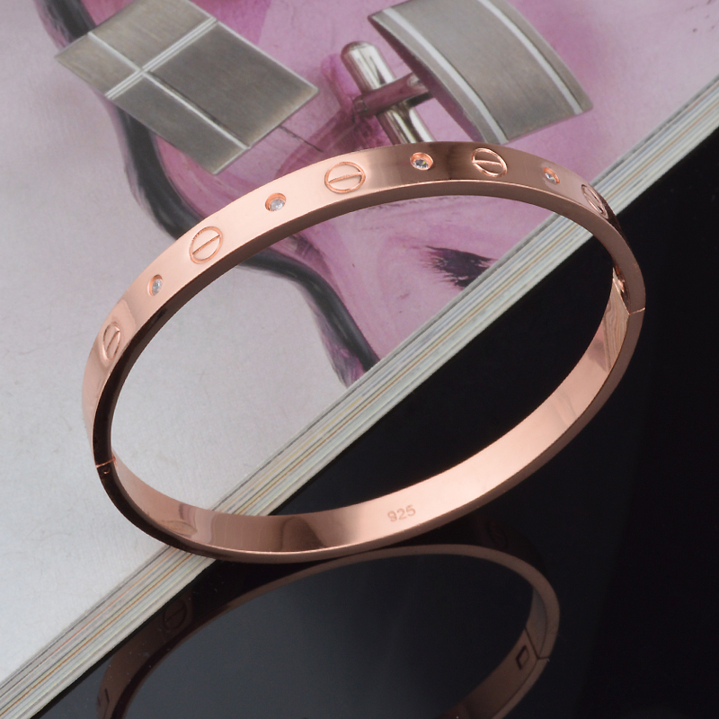 Fashion Bangle Rose Gold Plated Price / SZ058 - U King Jewelry Factory Outlet store