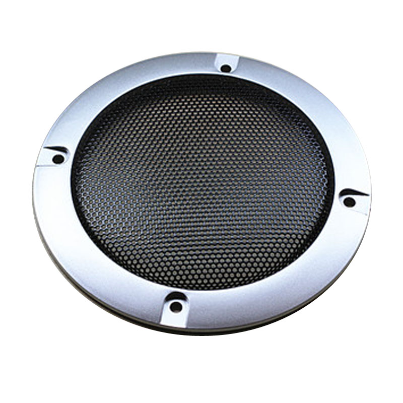 4 inch silver grille quality car speaker grilles ceiling speaker grille speaker box DIY speaker accessories,Free shippping(China (Mainland))
