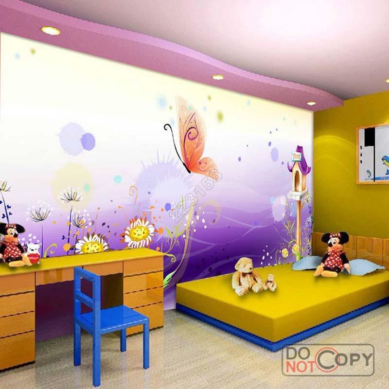 Modern home deco fashion 3d stereo kids bedroom wallpaper - Sofa bed childrens bedroom ...