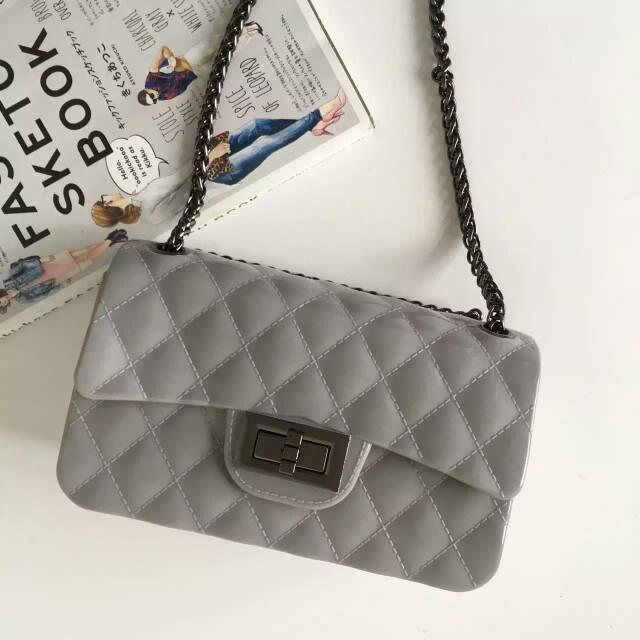 New mini 7-color diamond lattice Chains women Chaneel bags plastic women's handbags Double Flap Bag carton packaging(China (Mainland))